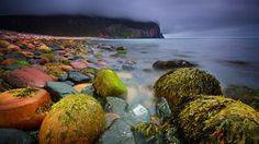 Orkney islands scotland beach cliff stones HD Wallpaper