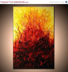 Original Modern Abstract Painting by newwaveartgallery on Etsy, $1400.00