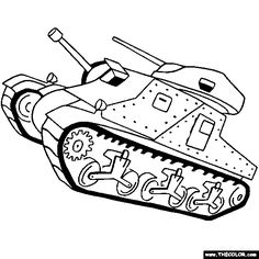 m3 lee grant tank online coloring page