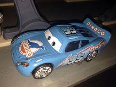 Disney Pixar Cars Blue Dinoco #95 Lightning McQueen Diecast Car 1:55 Loose RARE
