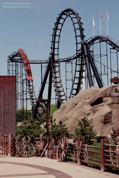 """Demon (Six Flags Great America) This ride was also """"Turn of the Century"""", before it was changed into this ride."""