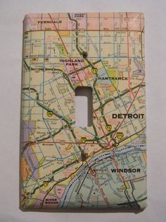 Map Light Switch Plate