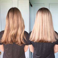 Foil highlights // balayage highlights // sunkissed hair // blonde hair // ashy hair