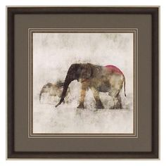 Elephant March Framed Wall Art ($269) ❤ liked on Polyvore featuring home, home decor, wall art, minimalist wall art, elephant wall art, framed wall art, elephant home accessories and glass wall art
