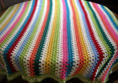 THERAPY Granny Stripes Crochet Bright Blanket by Thesunroomuk, £50.00