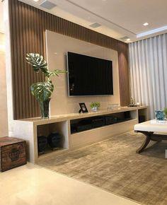 Living Room Tv Unit Designs, Ceiling Design Living Room, Tv Wall Design, Home Room Design, Home Interior Design, Home Living Room, Living Room Decor, Modern Tv Room, Modern Tv Units