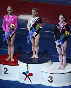 Nastia Liukin, Shawn Johnson and Chellsie Memmel - US Nationals 2008
