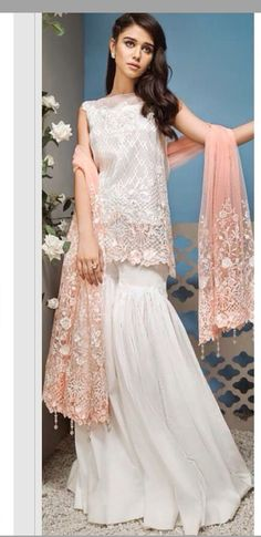 Different Styles Of Wedding Dresses. There are several designs of bridal gown, practically as many styles of wedding dresses as there are shapes of women. Pakistani Wedding Outfits, Pakistani Dresses, Indian Outfits, Sharara Designs, Couture Fashion, Bridal Fashion, Pakistan Fashion, Indian Designer Wear, Asian Fashion