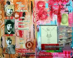 Art journaling - mini pages by thekathrynwheel, via Flickr
