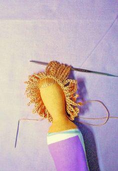 TUTORIAL cabelo em crochê