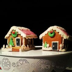Identical gingerbread house