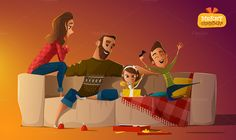 3 Family Illustrations by drumcheg on Creative Market