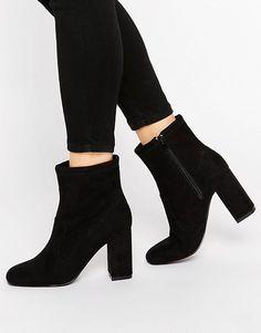 London Rebel | London Rebel Calf Heeled Ankle Boots