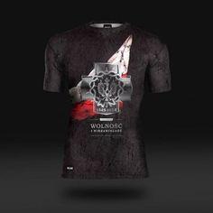 Koszulka sportowa Koszulka do biegania termoaktywna Wolność i Niezawisłość  - odzież sportowa Red is Bad