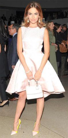 Look of the Day - November 06, 2014 - Camilla Belle in Dior from #InStyle