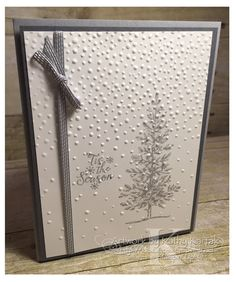 Trees The last of the cards for my September Christmas card-making class also features a clean and simple de.The last of the cards for my September Christmas card-making class also features a clean and simple de. Christmas Cards 2017, Simple Christmas Cards, Homemade Christmas Cards, Xmas Cards, Homemade Cards, Holiday Cards, Stamped Christmas Cards, Prim Christmas, Stampin Up Christmas