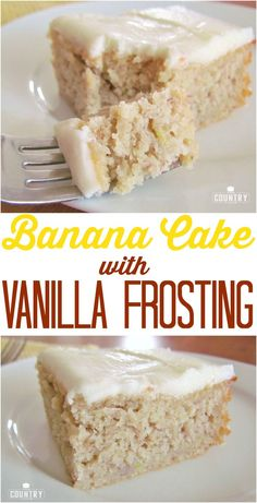 Homemade Banana Cake with Vanilla Frosting recipe from The C.- Homemade Banana Cake with Vanilla Frosting recipe from The Country Cook is so mo… Homemade Banana Cake with Vanilla Frosting recipe from The Country Cook is so moist and delicious - Smores Dessert, Cupcakes, Cupcake Cakes, Rose Cupcake, Just Desserts, Delicious Desserts, Dessert Recipes, Picnic Recipes, Baking Desserts