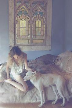 woman, wolf