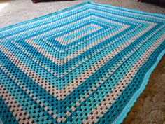 Rectangle Granny #Afghan by jeanne_stein #crochet