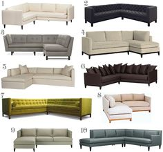 modern sectional sofas ... only posting for my husband who loves modern furniture ... my fav is 5 for its coziness