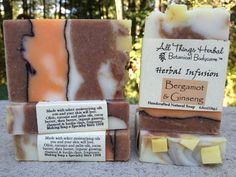Bergamot & Ginseng Herbal Infusion Soap by AllThingsHerbal, $6.00