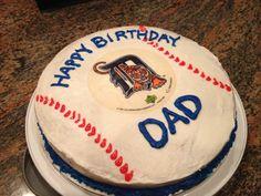 Detroit Tigers baseball cake