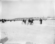 Horse Race on Ottawa River. March copyright expired (Credit: Topley Studio / Library and Archives Canada / Ottawa River, Local Hotels, Harness Racing, Canadian History, Back In Time, Horse Racing, Ontario, Street View, Canada