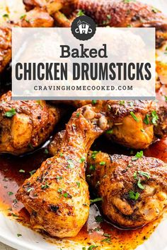 Deliciously Baked Chicken Drumsticks made with a simple dry rub. Crispy, juicy and tender, this is the perfect easy dinner for those busy weeknights! #chickendrumsticks #chickenlegs #bakednotfried #recipe