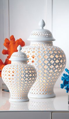 Pierced Covered #Lanterns by Twos Company $75.00