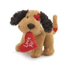 Brown Plush Love Ya Puppy Stuffed Animal Valentine's