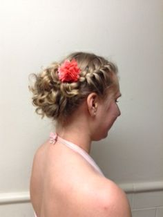 Grace's hair was a team effort! Shout out to fellow hair lover, Lydia K. for the braid. I added the curled updo. Hope you enjoyed the masquerade ball, Grace!