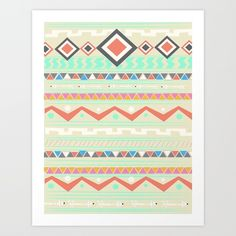 Native Art Print by Nika | Society6