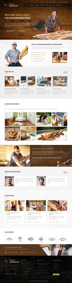 Wood Workshop HTML Template is specially designed for all kind of #carpenter, construction, handyman, Reparing and all type of Carpenter #website.