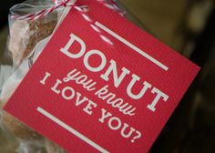Donut You Know I love you Gift Tag Set by KellyElliottCreative
