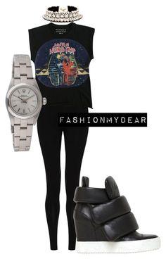 """taking a walk"" by meryemallachi on Polyvore featuring mode, M&S Collection, Balenciaga, Rolex, SHOUROUK en Giuseppe Zanotti"