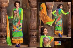 Partywear Parrot Designer Salwar Kameez  #salwarkameez