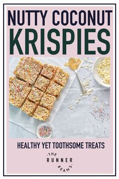 Relish the decadent flavors of coconut with a nutty twist rendered in the form of mouth watering krispies. The nutty coconut krispies make for the perfect healthy snack option for when those hunger pangs strike. Learn how to make nutty coconut krispies from the comfort of your home. Click through to access the full recipe now. #coconutkrispies #coconutkrispietreats #nuttycoconutkrispies #coconutkrispierecipe #therunnerbeans Healthy Food Habits, Healthy Living Recipes, Healthy Snack Options, Good Healthy Snacks, Healthy Recipes For Weight Loss, Easy Healthy Recipes, Fall Recipes, Baking Recipes, Snack Recipes