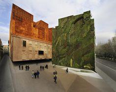 Caixa Forum's Vertical Garden by Patrick Blanc (Madrid)       Via: la_caixa
