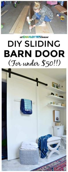 Barn doors today are becoming part of interior decoration in many houses because they are stylish. When building a barn door on your own, barn door hardware kit Hanging Barn Doors, Old Barn Doors, Sliding Barn Door Hardware, Sliding Doors, Front Doors, Garage Doors, Barn Door In House, House Front, Farm House