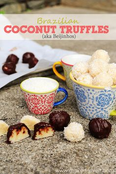 Brazilian Coconut Truffle Balls (aka Beijinhos)......way better than Macaroons and ONLY 3 INGREDIENTS!!! --- Make It and Love It (in the KITCHEN)