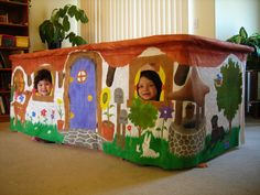 DINING TABLE PLAYHOUSE, country cottage, custom tailored childrens toy fort, most any size