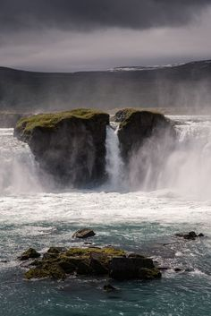 Godafoss Waterfall, Iceland // This photo was edited with an Adobe Lightroom preset from /presetbase/ – specially developed for travel and landscape photos taken in Nordic countries like Iceland, Norway or Greenland.