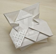 Origami Invitation for Louis Vuitton - too many printing processes to list AND hand folded