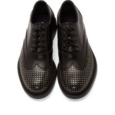 Dsquared2 Black Studded Shortwing Oxfords