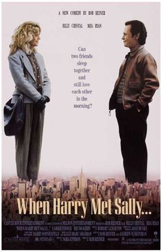 A great poster from the classic 1989 rom-com When Harry Met Sally! Directed by Rob Reiner, written by Nora Ephron, and starring Billy Crystal and Meg Ryan. Ships fast. 11x17 inches. Need Poster Mounts