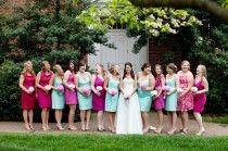 Aqua Bridesmaids Gowns