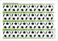 Footballs display border (SB8532) - SparkleBox