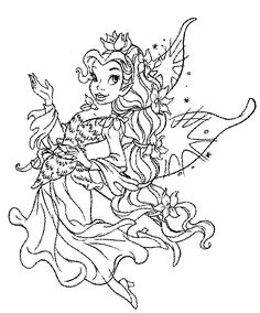 106 Best Fairy Coloing Pages Images On Pinterest