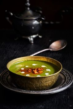 Palak Shorba or Spinach Shorba is similar to spinach soup with Indian spices.
