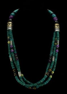 Tommy Singer Three Strand Necklace Natural Stone Jewelry e3cbb1673209